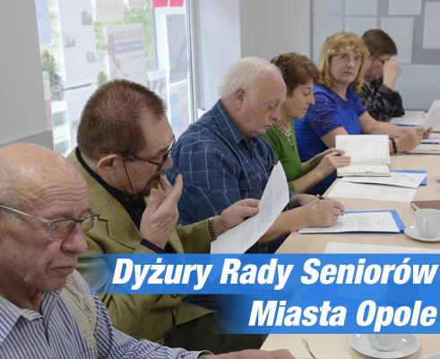 Dyżury Rady Seniora Miasta Opola